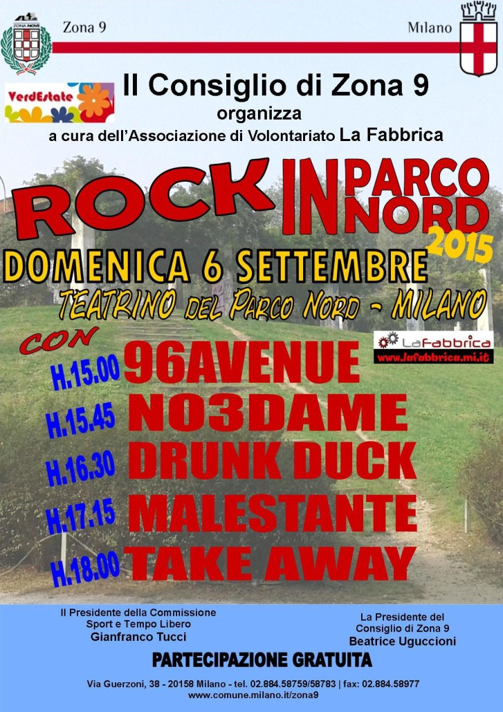Locandina Rock in Parco Nord 2015 definitiva