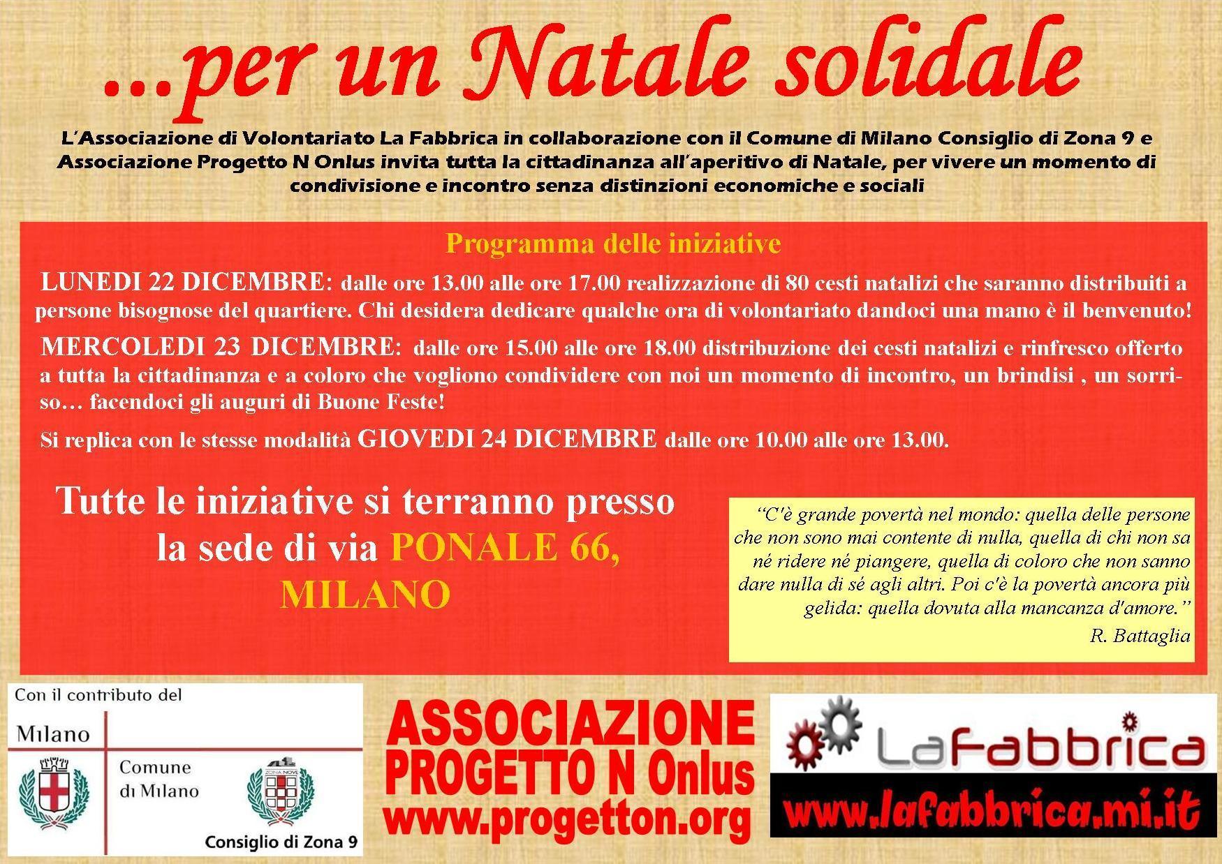 Nataler Solidale LaFabbrica